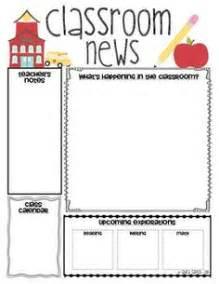 free preschool newsletter templates 1000 ideas about class newsletter template on