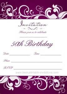 50th Birthday Invite Template by 50th Birthday Invitation Templates Free Printable Demplates