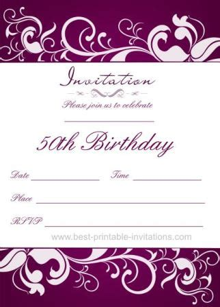 free 50th birthday invitation templates printable 50th birthday invitation templates free printable demplates