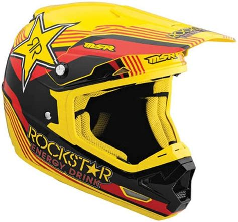 msr motocross msr mav 1 rockstar helmet medium red yellow black