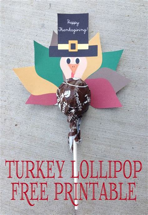 Turkey Lollipop Printable | turkey lollipops and free printable on pinterest