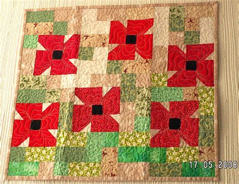 Poppy Applique Quilt Pattern by Get Inspired To Make A Miniature Quilt Miniature Quilt