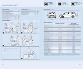 Vauxhall Dimensions Page 7 Of Vauxhall New Zafira Specifications 2006