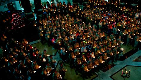 photo christmas eve candle light service at al faw palace