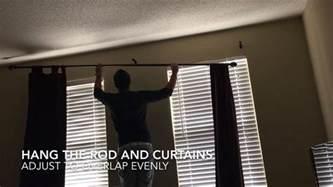 Single Curtain Rod Installation How To Install Curtain Rod Diy Home Improvements Youtube