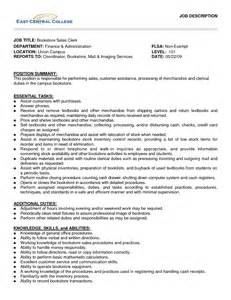 Bookstore Clerk Sle Resume by Bookstore Clerk Description Resume Best Free Home Design Idea Inspiration