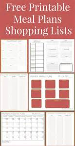 Pantry Meal Planner pantry list weekly meal plans and weekly meals on