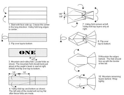printable origami instructions fish dollar ichthus