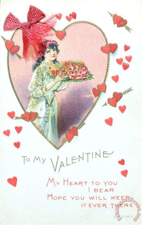 valentines card esl school card painting card