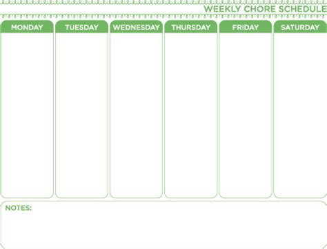 weekly chore chart template weekly chore chart template free home