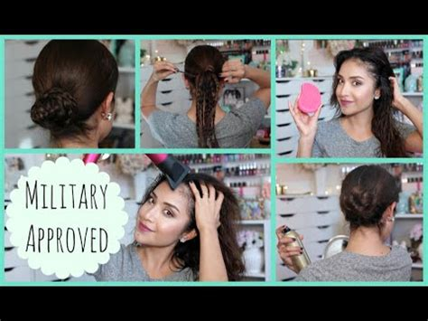 easy hairstyles for military quick and easy hairstyle tutorial military inspired