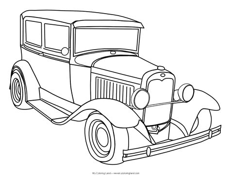 coloring pages classic cars free cars my coloring land