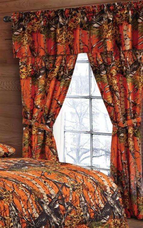 camo curtains and bedding orange camo curtains the sw company