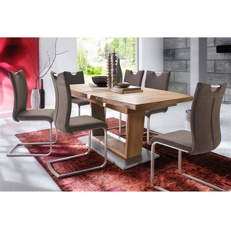 Beech Dining Table And 6 Chairs Cantania Dining Table Rectangular In Beech And 6 Pavo