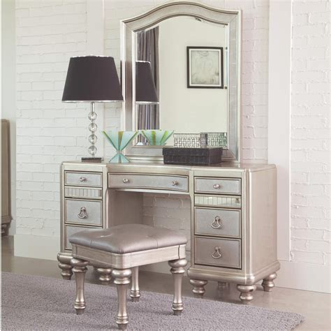 Makeup Vanity Furniture Makeup Vanity Desk With 7 Drawers Antique Recreations