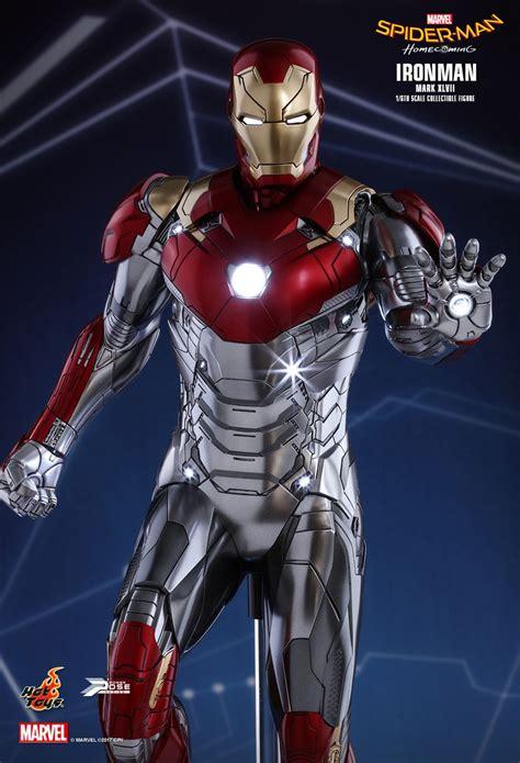 hot toys spider man homecoming iron man mk xlvii spider man homecoming filmindeki iron man in yeni zırhı