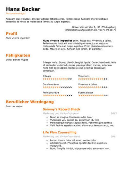 Lebenslauf Muster Mac Lebenslauf Muster Und Vorlagen F 252 R Die Perfekte Bewerbung