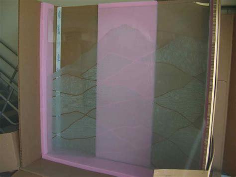 partitions dividers sans soucie art glass curved etched glass shower partition sans soucie