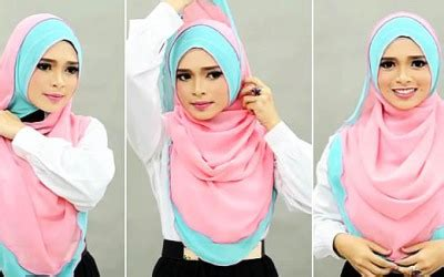 tutorial hijab angel lelga cara memakai hijab ala angel lelga model yang praktis