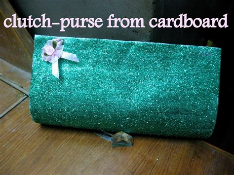 How To Make Handmade Clutches - clutch purse from cardboard 183 how to make a recycled