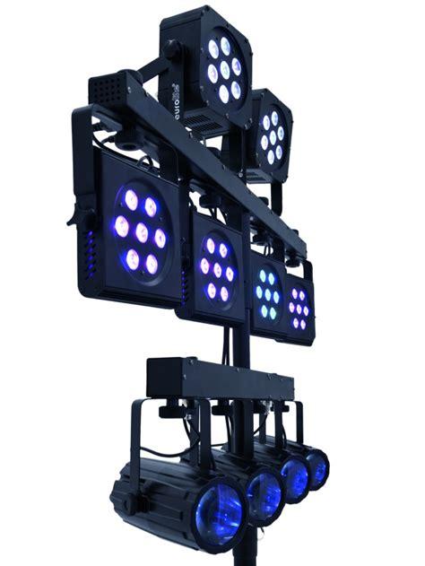 disco beleuchtung set eurolite kls kombo pack 5 led set lichtset lichtanlage dj