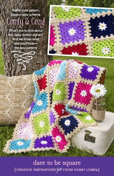 dare to be square hobbylobby projects dare to be square all things yarn