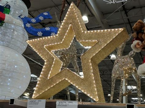 costcos lighted star 2015 gold tinsel led