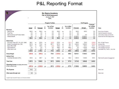 p l reporting ppt video online download