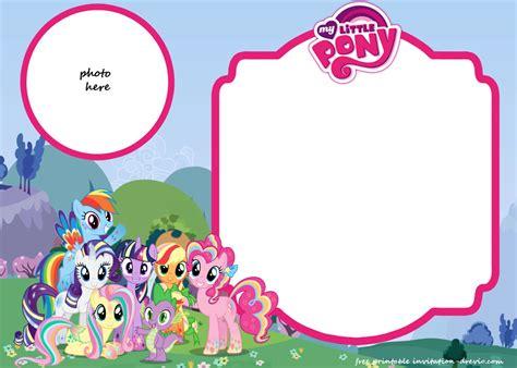 Pony Invitation Card Template by My Pony Birthday Invitation Template Equestria