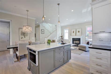 gray kitchen cabinets transitional kitchen benjamin benjamin moore halo with gray walls living room