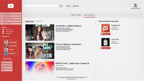 concept design youtube my youtube design concept homepage by tardisplus on