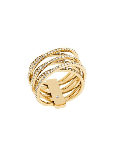 Hello Pave Ring From Neiman by Michael Kors Pave Criss Cross Ring Neiman