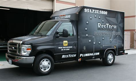 check out the restech plumbing utility truck wrap at gator