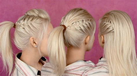 Back to school hairstyles for everyday braided half updo and ponytail