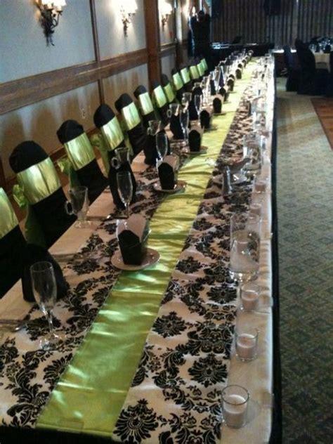 black white green wedding wedding ideas galleries table designs black white and lime