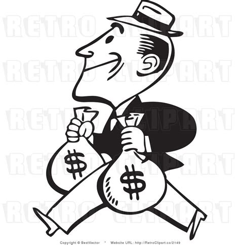 Vintage Bag Circle Beam Hold Arm person holding money clipart 24