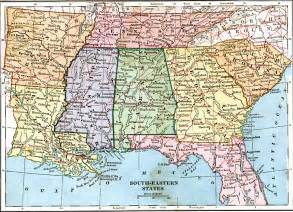 map of south eastern united states southeastern states
