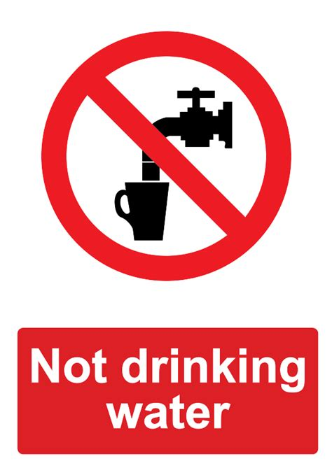 not water free signage uk printable prohibition signs