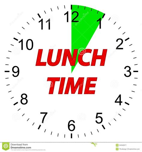 Idea Kitchen Design by Lunch Time Clock Royalty Free Stock Photography Image