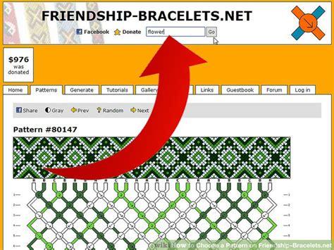 choose  pattern  friendshipbraceletsnet  steps