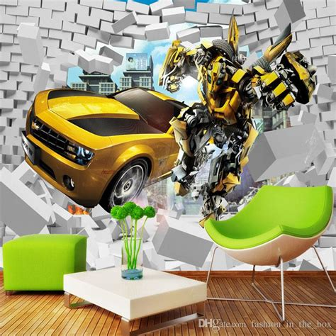transformers photo wallpaper bumblebee wall mural