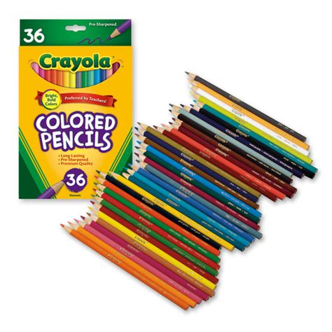 crayola 64 colored pencils crayola 174 colored pencils set of 36 colored pencils
