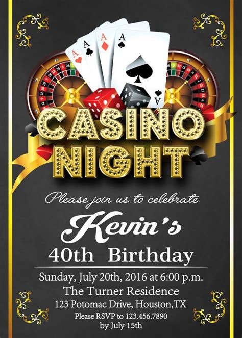 Casino Invitation Casino Party Invitations Casino Birthday Invitation Casino Poker Free Vegas Themed Invitation Templates