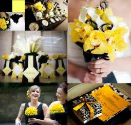 yellow wedding decorations yellow black yellow weddings