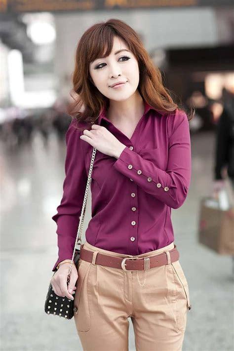 Gesper Sdlebar 35cm Panjang 90cm kemeja kerja wanita panjang merah model terbaru jual murah import kerja