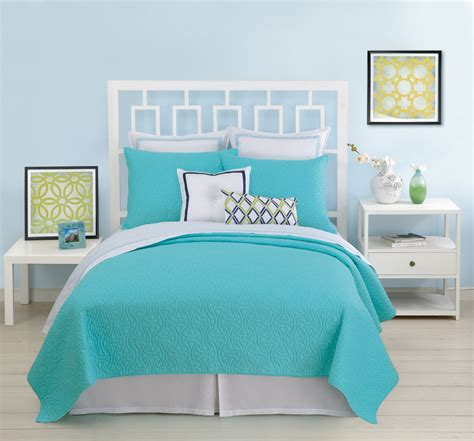 aqua quilts coverlets santorini coverlet turquoise by trina turk bedding
