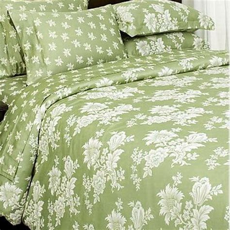 Green Toile Bedding by 7pc Green Toile Floral Print Bedding Duvet Cover