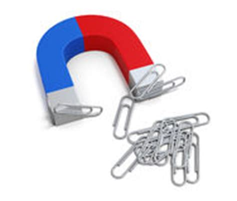 How To Make A Paper Clip Magnetic - magnet and paper stock photo image 79236425