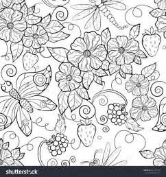 flower coloring pattern coloring pages butterfly pattern flowers coloring pages