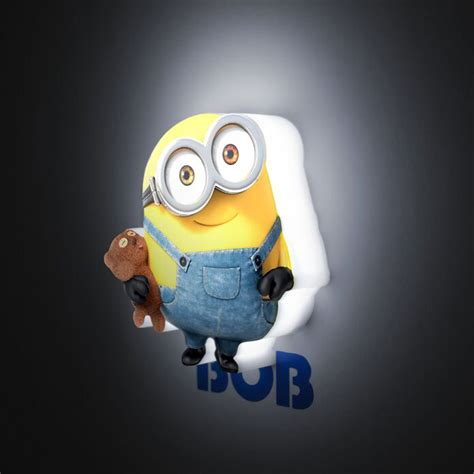 3d mini led wall lights bedroom lighting minions